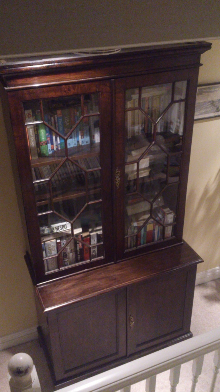 Oak Small Georgian Bookcase For Sale