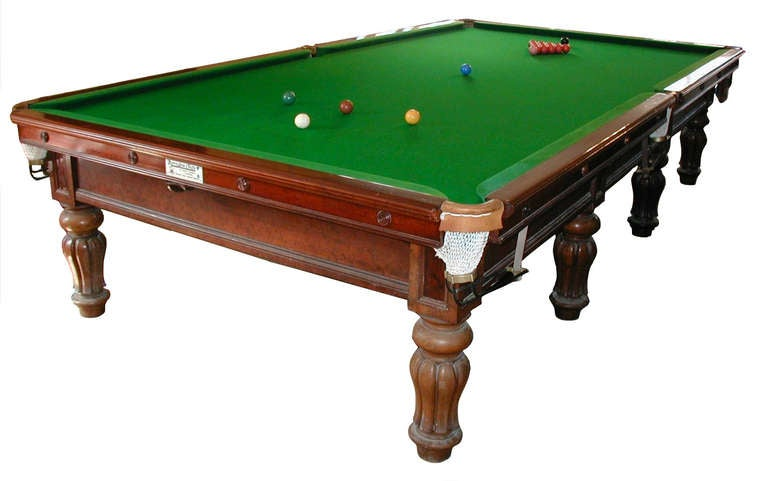 full size antique billiard snooker table pool table by