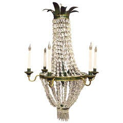 Fine Antique French Empire Cut Crystal Chandelier For Sale at 1stdibs