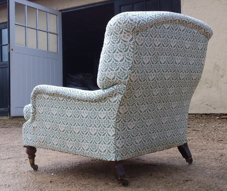 Large comfortable howard chair at 1stdibs for Large comfy armchairs