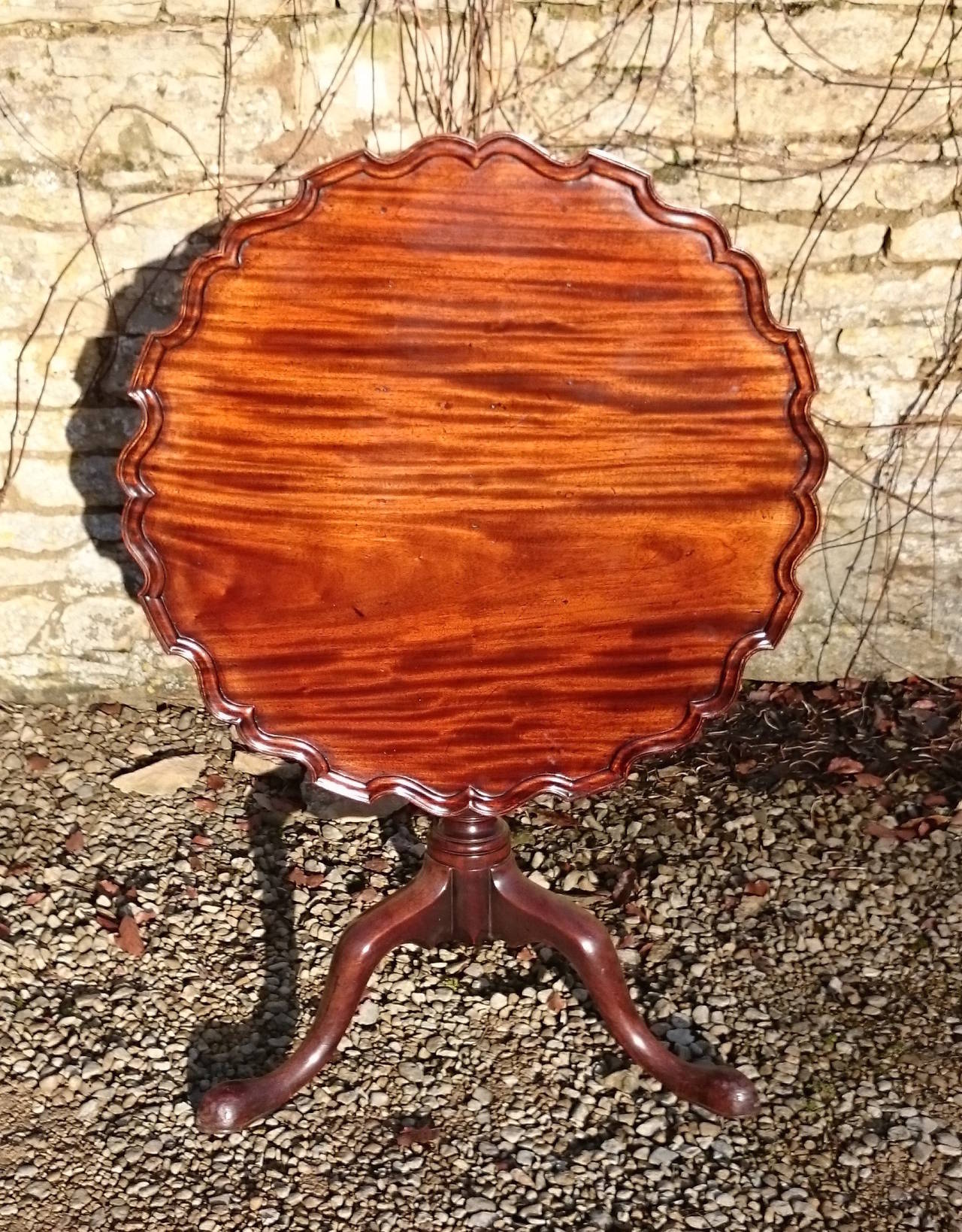 Antique Cuban Mahogany Wine Or Lamp Table 3