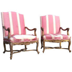 Antique French library chairs