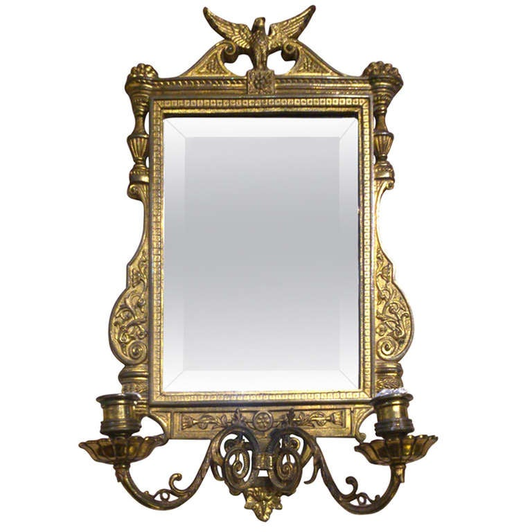 Wall Sconces Beside Mirror : Antique Mirror sconce at 1stdibs
