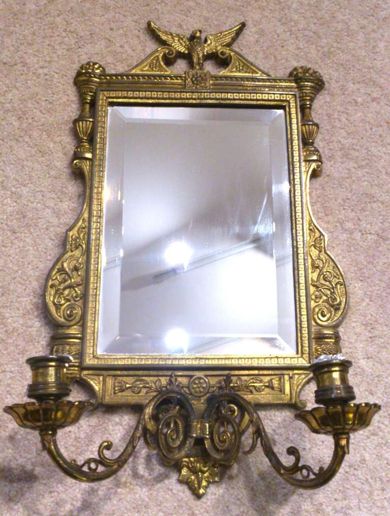 Antique Mirror sconce at 1stdibs