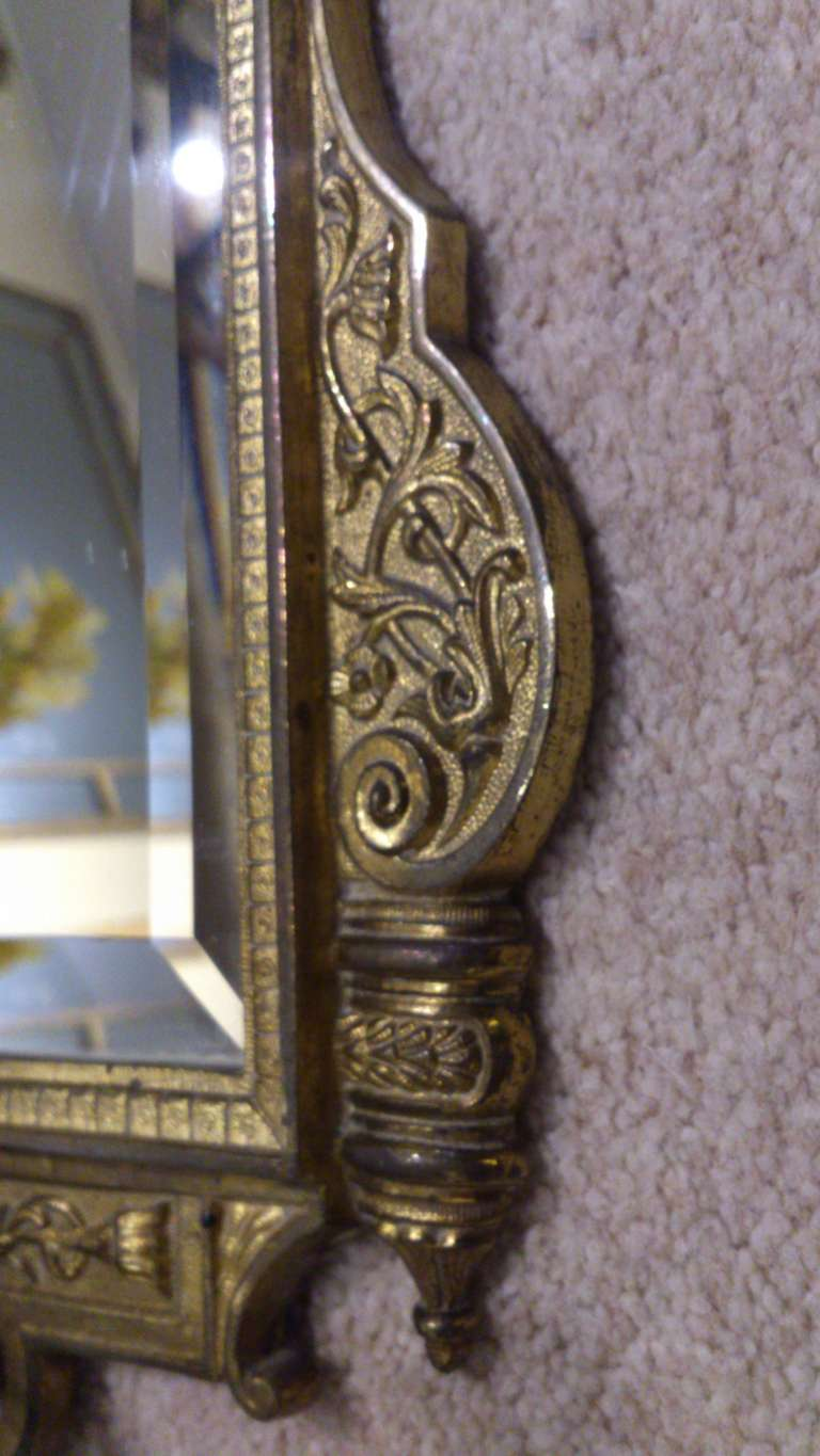 Antique Mirror Wall Sconces : Antique Mirror sconce at 1stdibs