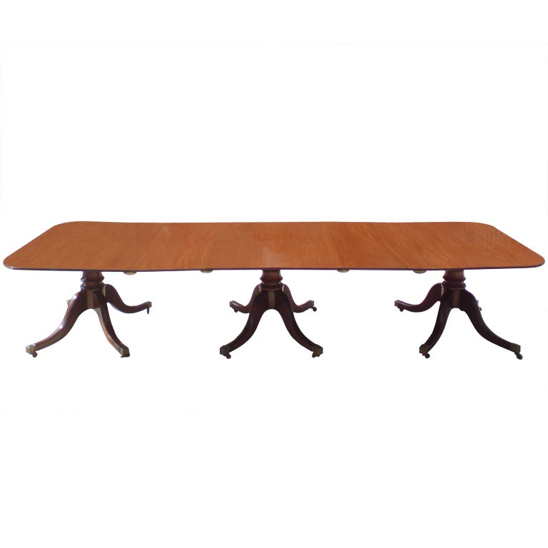 Three pillar dining table at 1stdibs for Pillar dining table