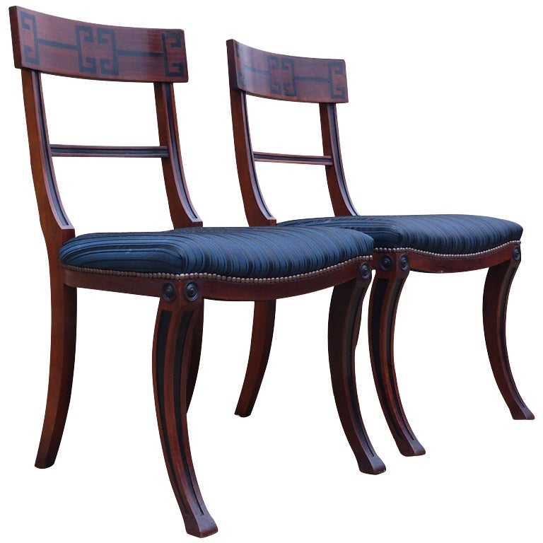 Regency style klismos dining chairs at stdibs