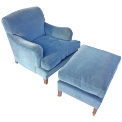 Howard and Sons Comfortable Chair and Footstool