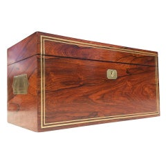 Early 19th Century Regency Rosewood Tea Caddy