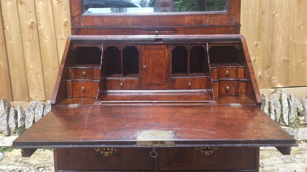 unusually small antique secretary secretaire bureau bookcase at 1stdibs. Black Bedroom Furniture Sets. Home Design Ideas
