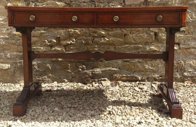 Antique Regency Sofa Table Library Table At 1stdibs