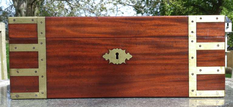 Antique Campaign Writing Box At 1stdibs