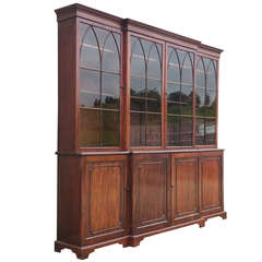 Very Fine Quality George III Mahogany Breakfront Bookcase