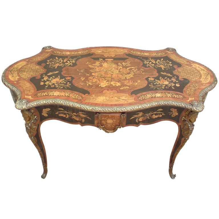 Antique french library table at 1stdibs Coffee table antique