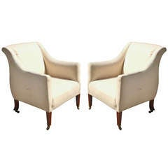 Pair of Howard and Sons Library Chairs