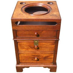 Antique Bedroom Washstand Made of Cuban Mahogany