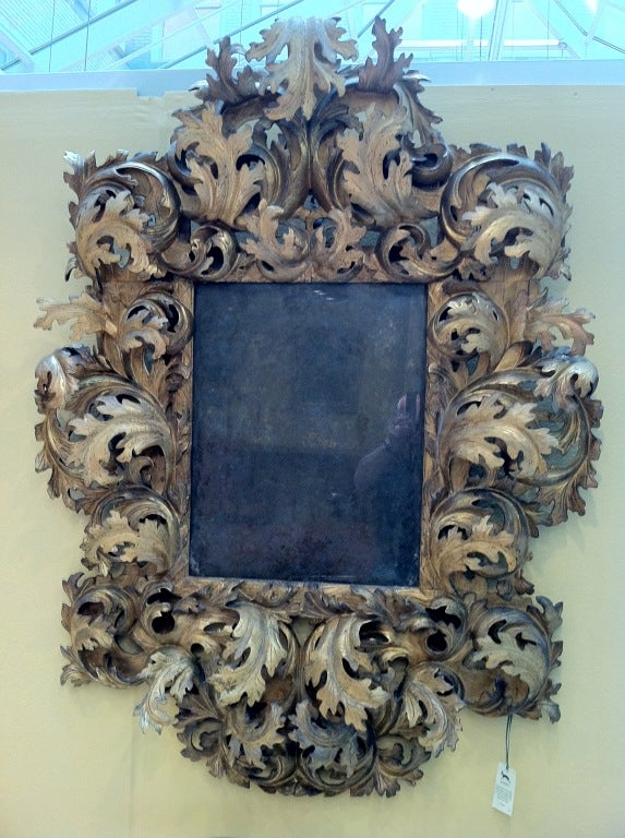 17th Century Italian Rococo Mirror In Excellent Condition For Sale In Gloucestershire, GB