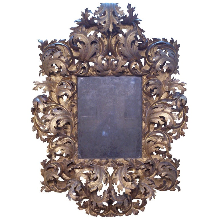 17th century italian rococo mirror for 17th century mirrors