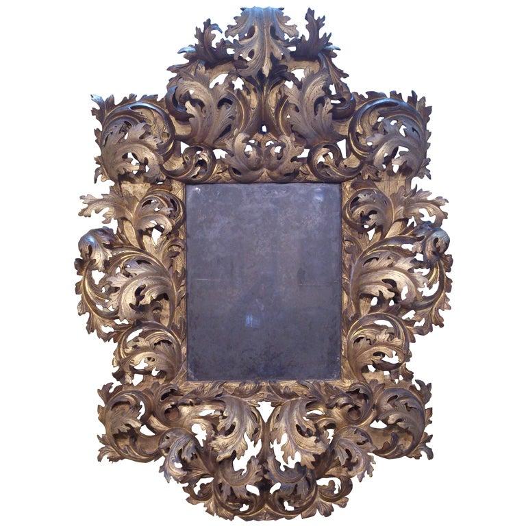 17th Century Italian Rococo Mirror