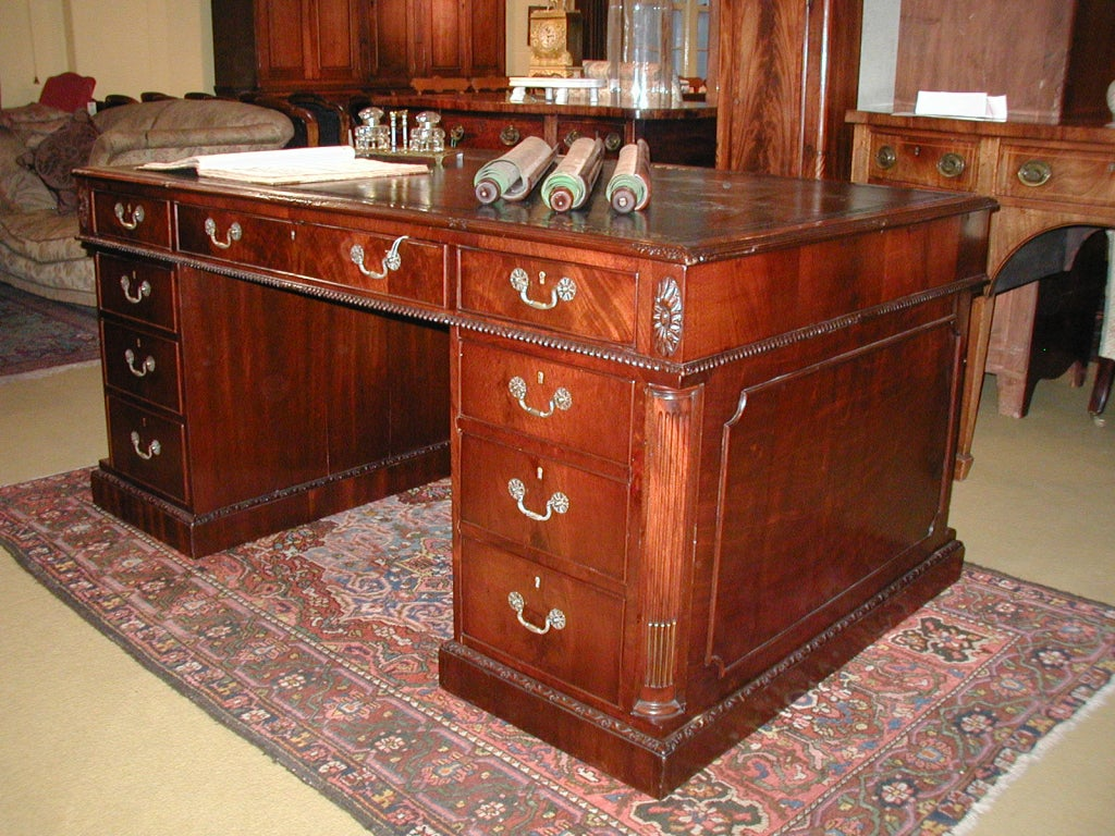 Antique Mahogany Desk 2 - Antique Mahogany Desk At 1stdibs
