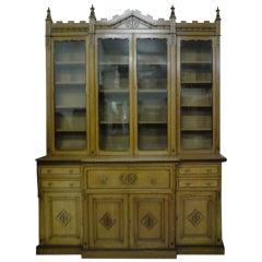 19th Century Victorian Period Aesthetic Movement Oak Secretaire Bookcase
