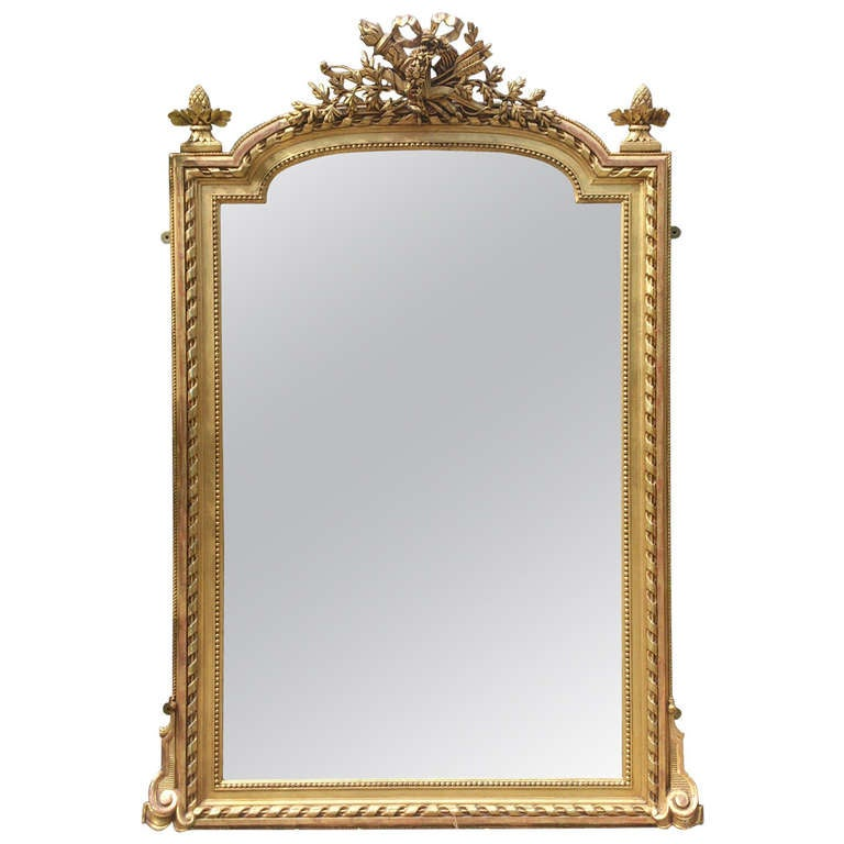 Nineteenth century gilt mirror at 1stdibs for What is a gilt mirror