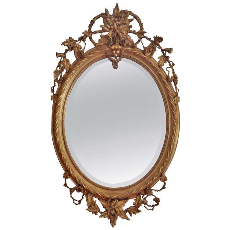 Antique oval mirror at 1stdibs for Victorian mirror