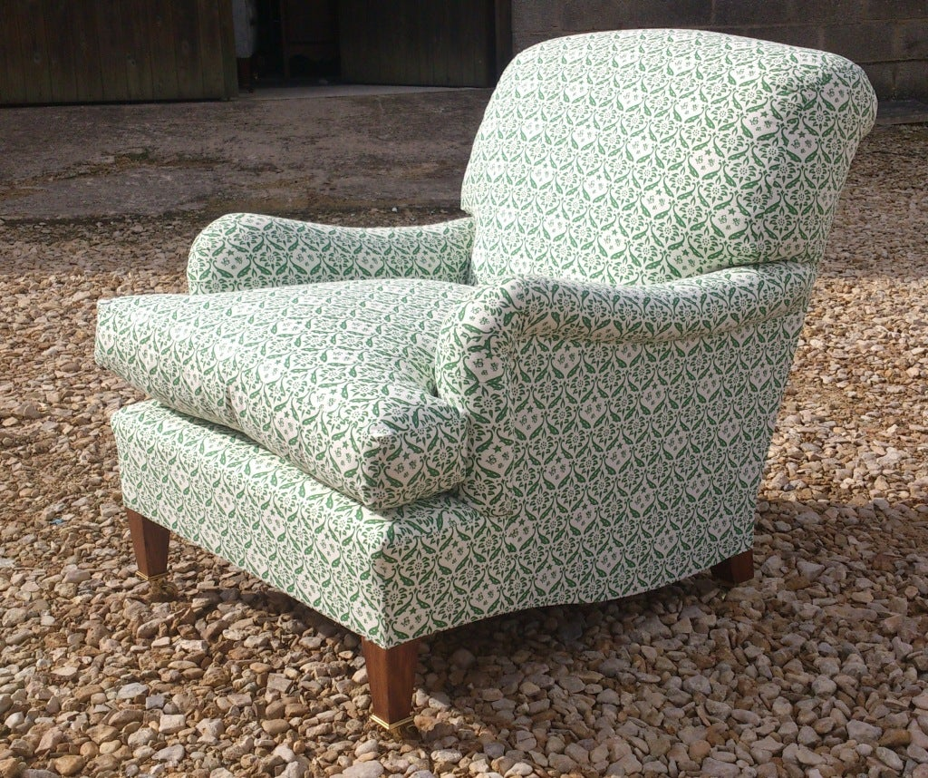 English Howard Chairs Deep Seated Bridgwater Chair For Sale