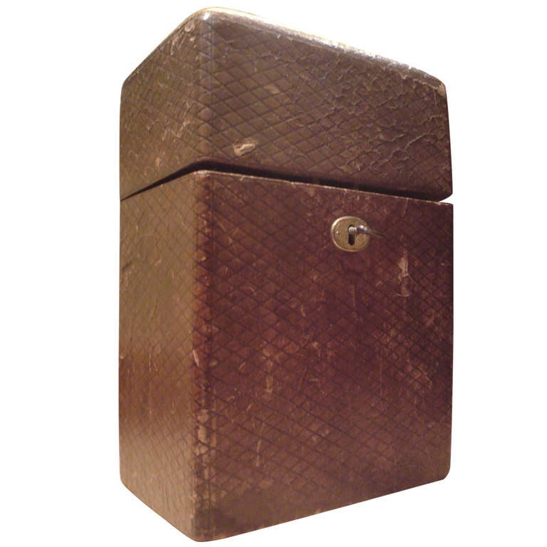 Antique Leather Tantalus