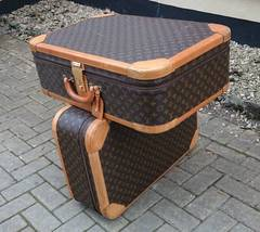 Pair of Vintage Louis Vuitton Suitcases