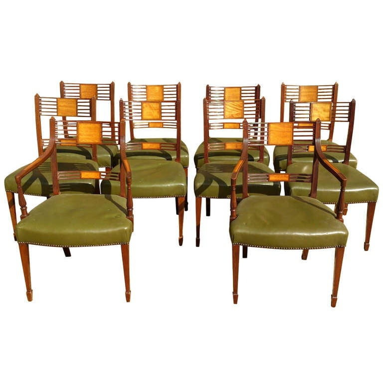 Set Of 10 Antique Dining Chairs At 1stdibs