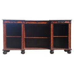 large oak antique breakfront bookcase at 1stdibs. Black Bedroom Furniture Sets. Home Design Ideas