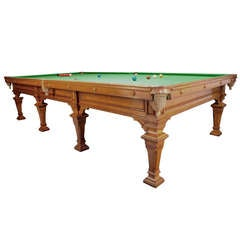 Very Rare Full Size Antique Billiard / Snooker Table By Gillow
