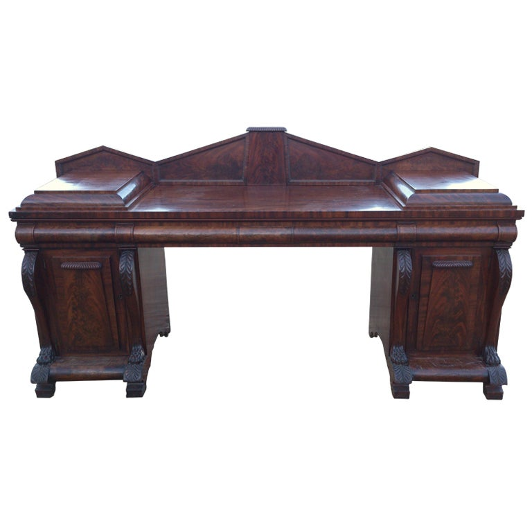 Large Early 19th Century George IV Period Antique Mahogany Sideboard