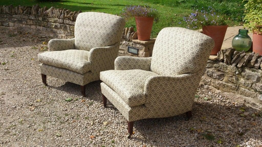 Pair Of Antique Armchairs Quot Bridgewater Quot Model By Howard