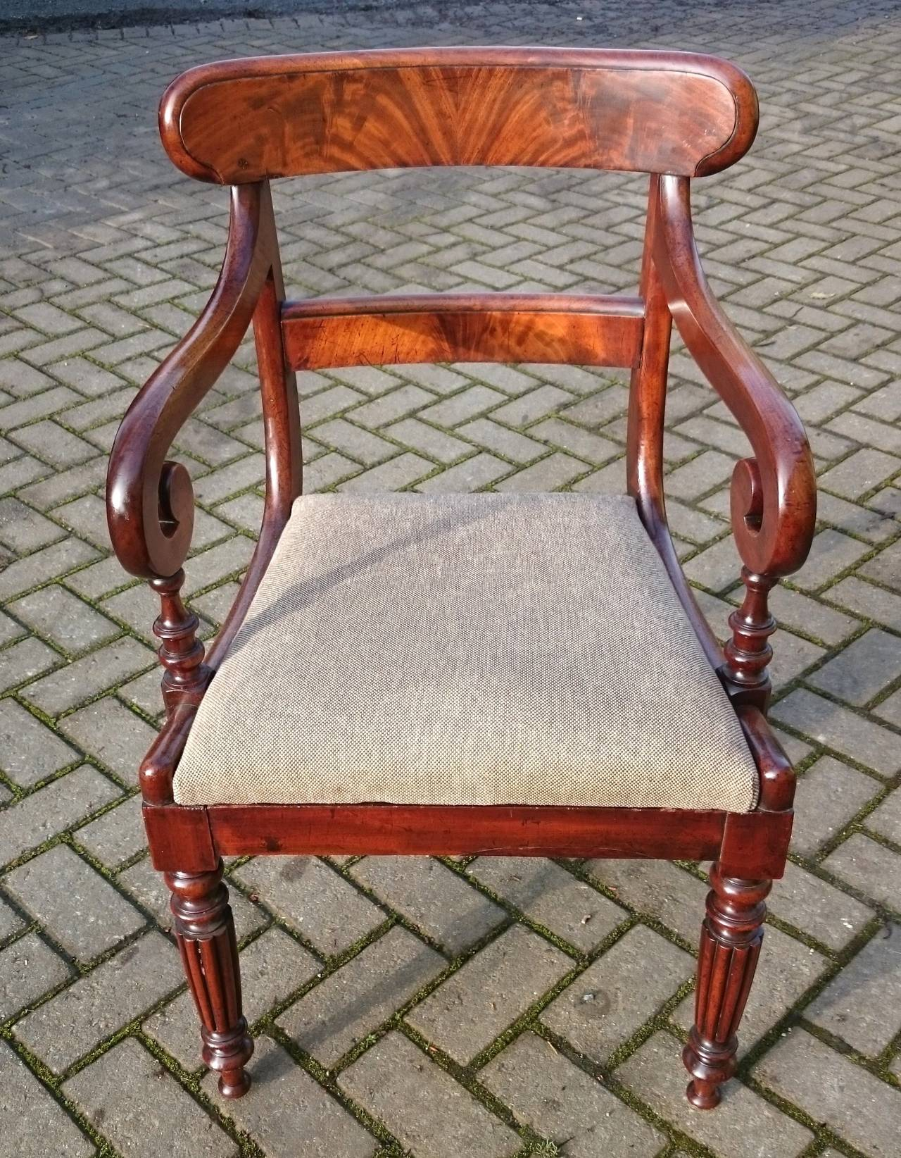 Antique Dining / Desk / Carver / Library Chair In Good Condition For Sale  In Gloucestershire - Antique Dining / Desk / Carver / Library Chair For Sale At 1stdibs