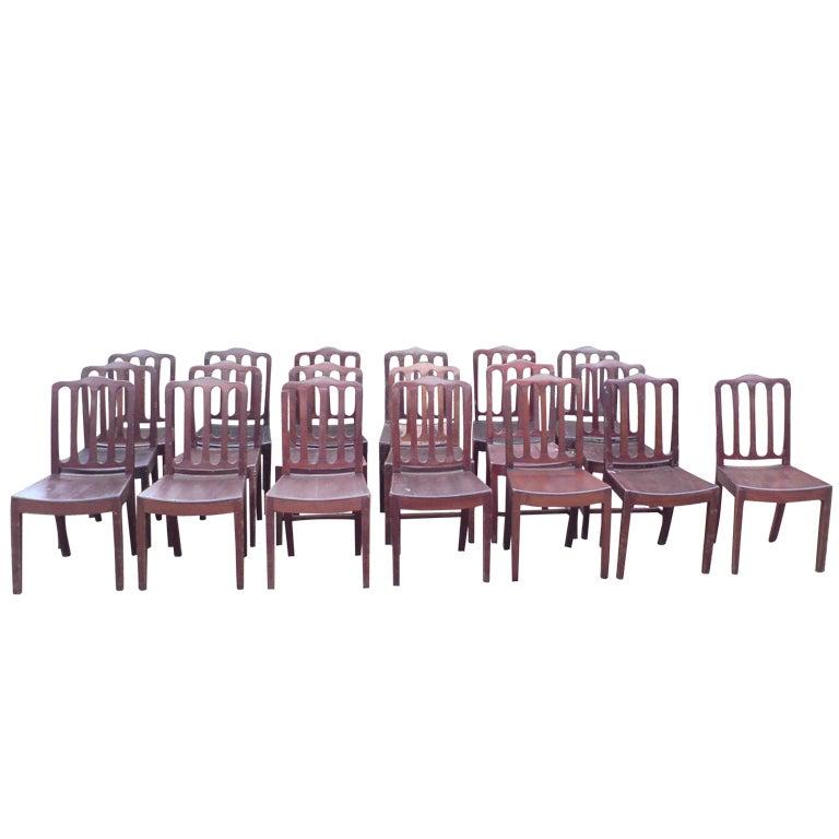 Set of 19 Mahogany Dining Chairs Made circa 1800