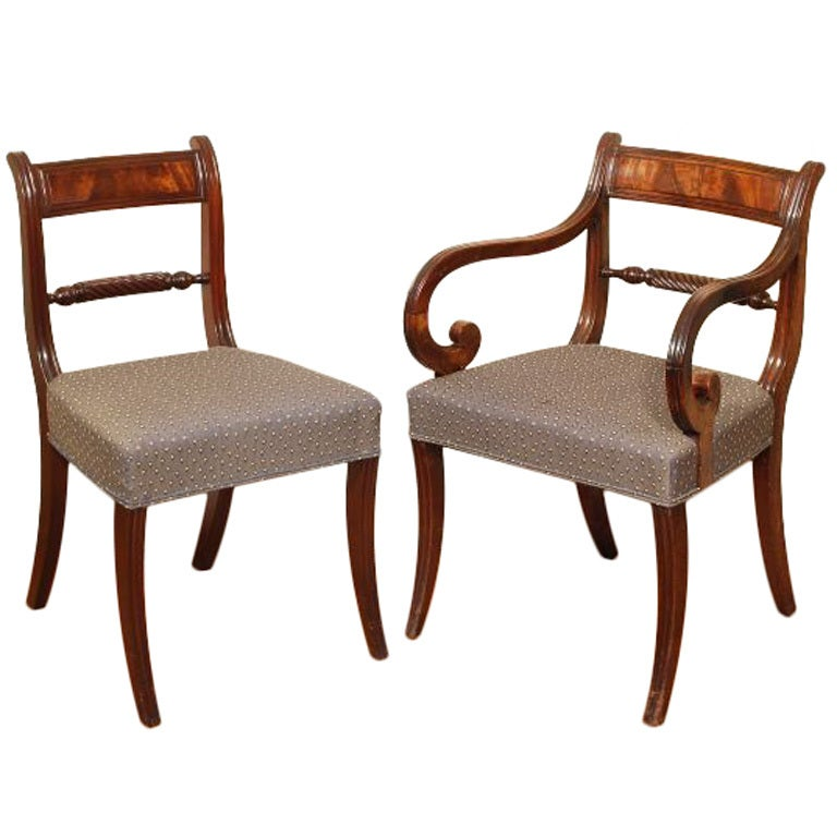 Set Of 18 Regency Dining Chairs At 1stdibs