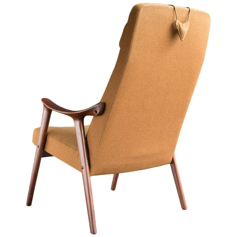 Norwegian High Back Chair At 1stdibs