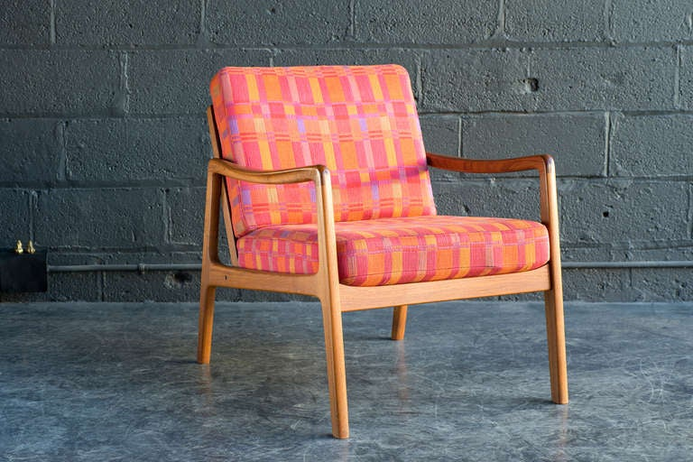 Scandinavian Modern Easy Chair by Ole Wanscher For Sale
