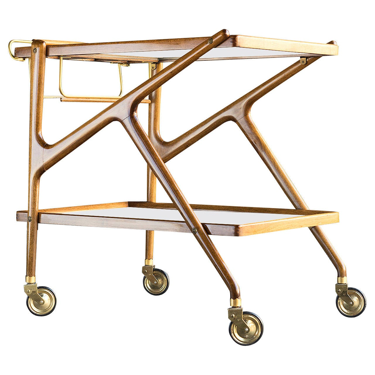 Rolling Bar Cart By Cesare Lacca At 1stdibs