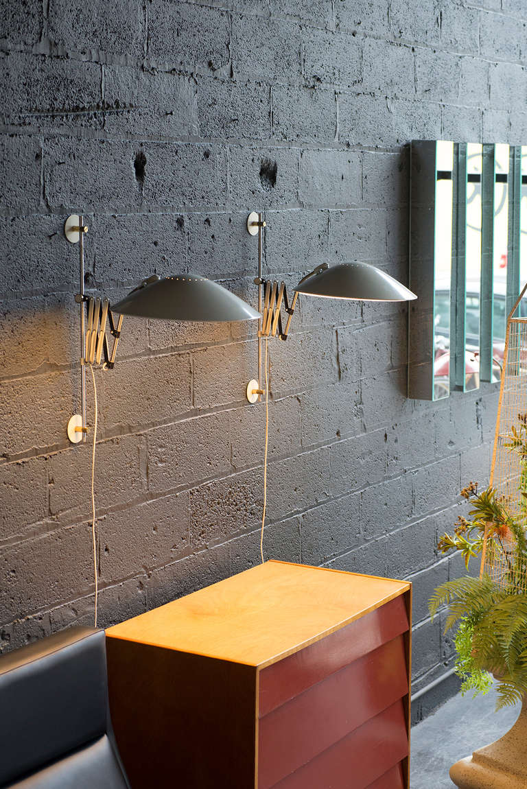 Articulated Sconces By Gerald Thurston For Lightolier At