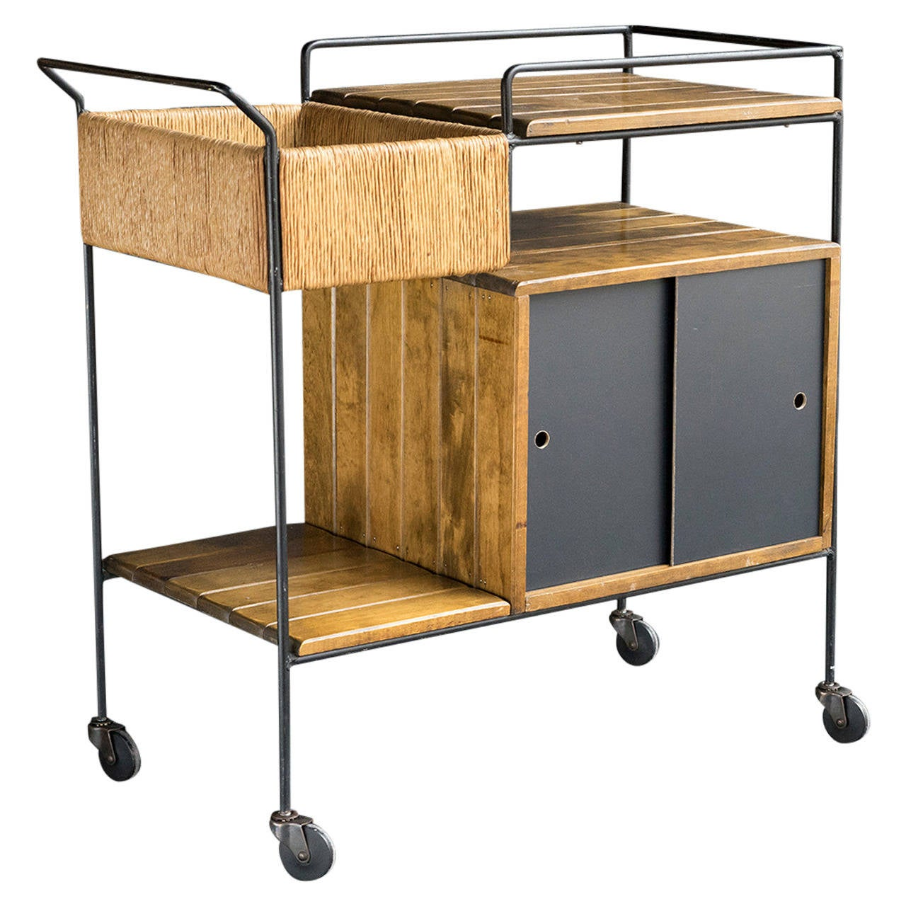 Arthur Umanoff Rolling Bar Cart At 1stdibs