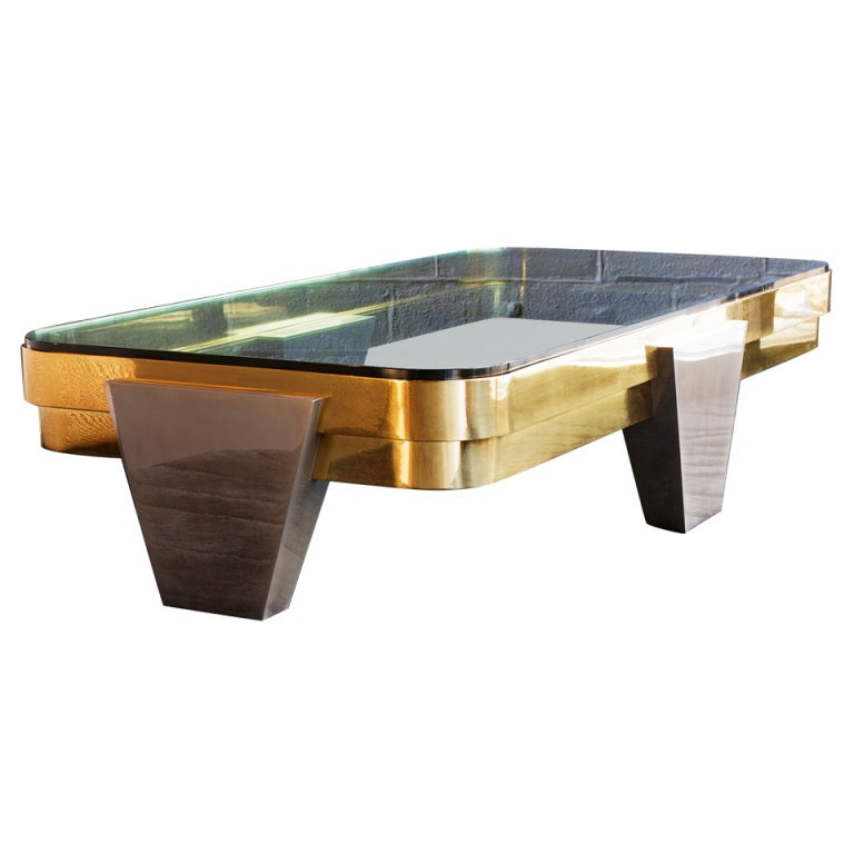 Karl Springer Cocktail Table At 1stdibs
