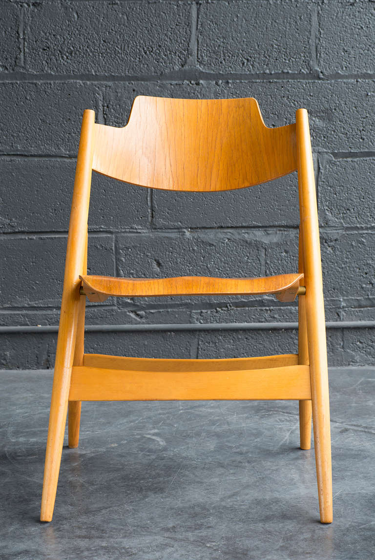 Mid-20th Century Folding Chair by Egon Eiermann For Sale
