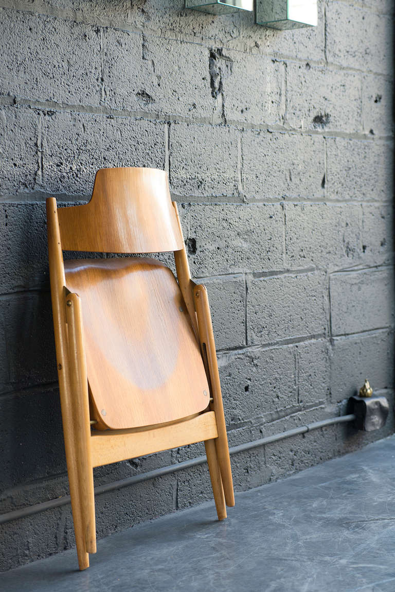 German Folding Chair by Egon Eiermann For Sale