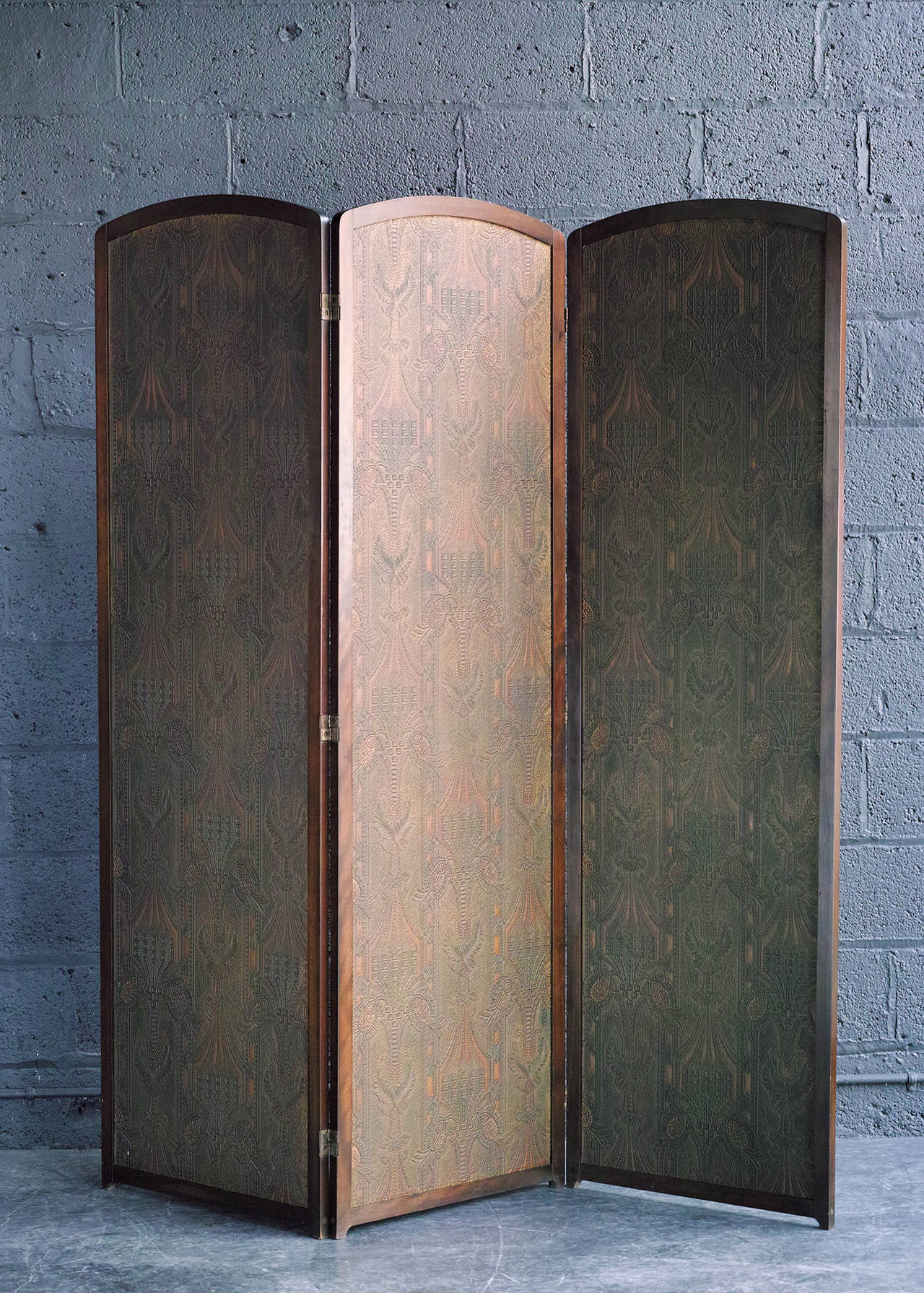 American Three-Panel Folding Screen For Sale