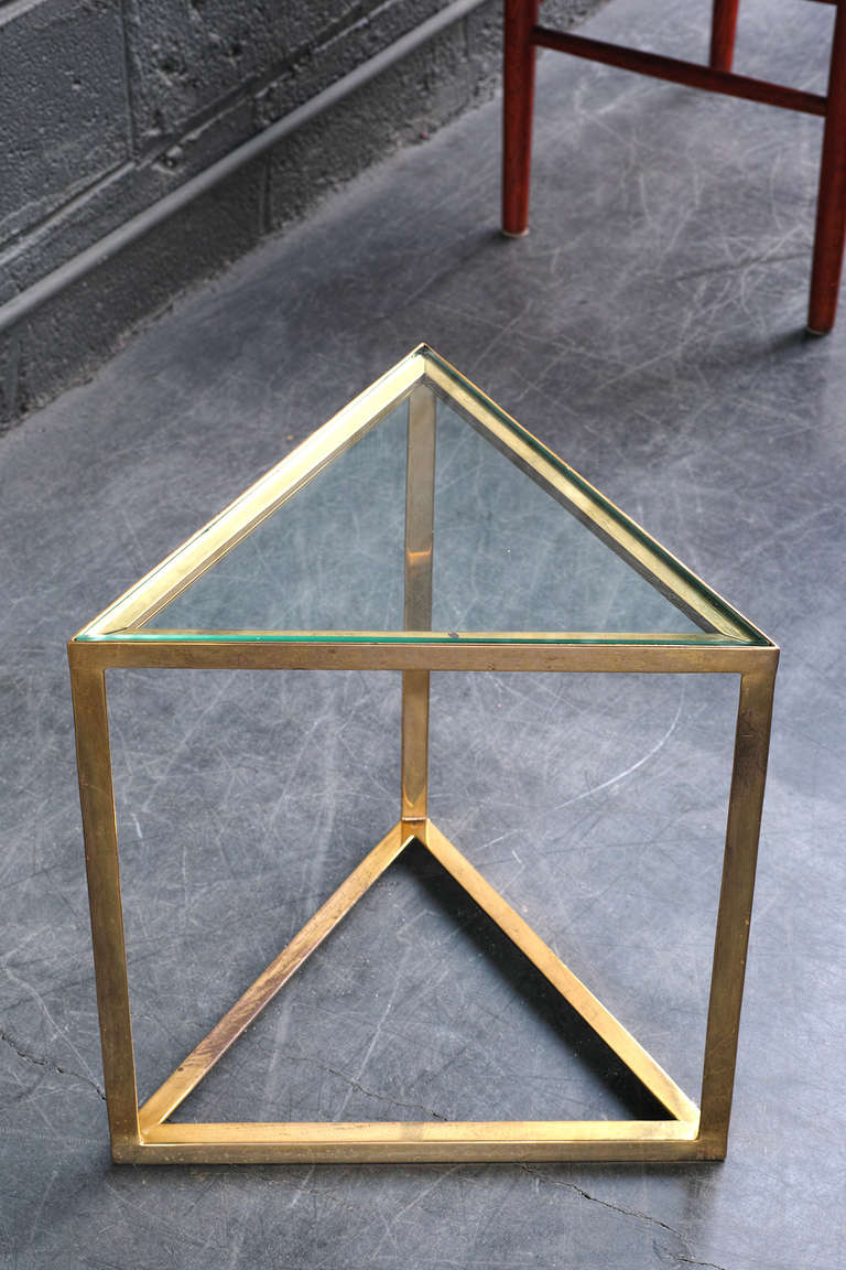 Triangular Side Table at 1stdibs