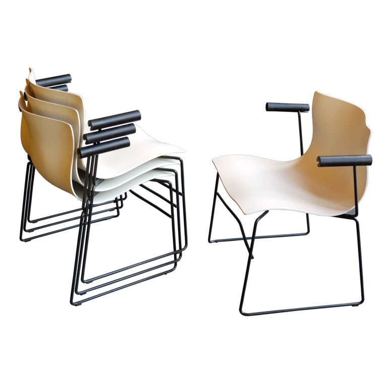 Set Of Four Massimo Vignelli Handkerchief Armchairs At 1stdibs