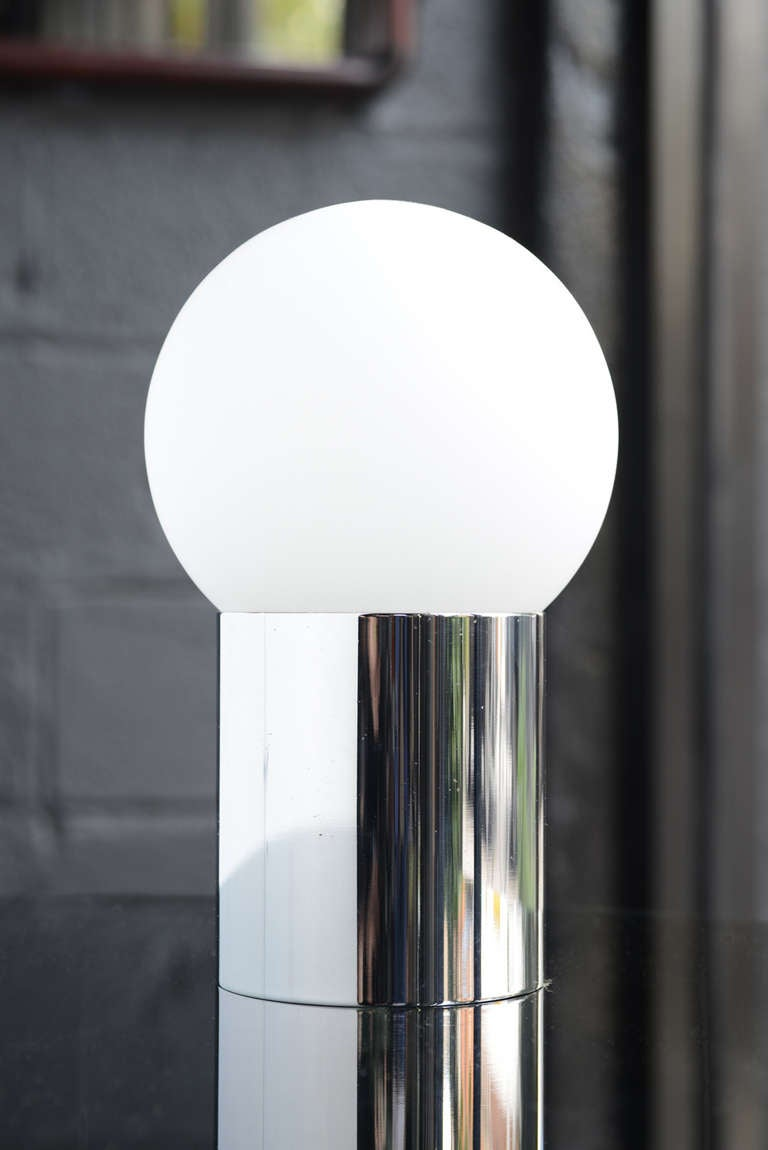 Sphere On Cylinder Accent Lamp At 1stdibs